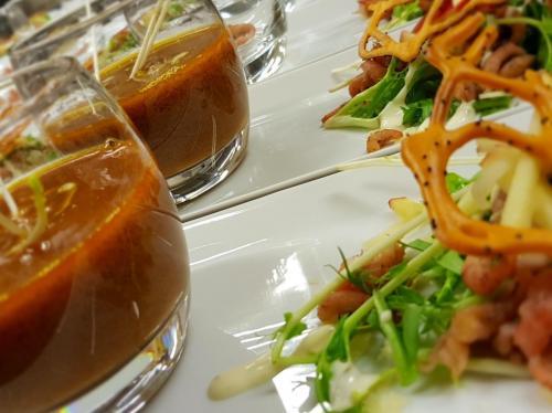 walking-dinner-bisque-grijze-garnalen-krokantje-paprika-appeltjes